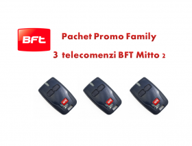 Pachet Promo Family 3 telecomenzi MITTO2 pentru automatizarile BFT